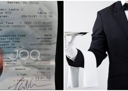 Kamarieri shqiptar në Miami surprizohet! Klienti amerikan i lë 3-fishin e faturës si bakshish