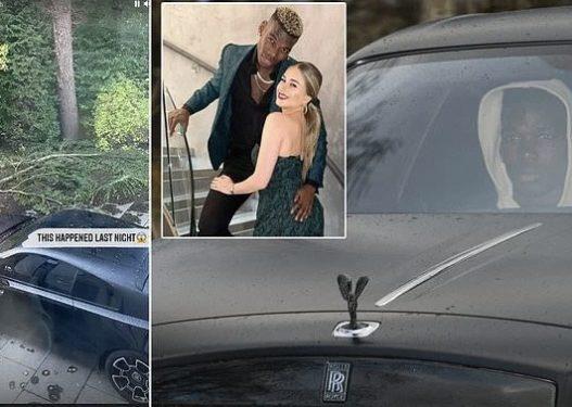 """""""Rolls Royce"""" 300,000£ i Paul Pogbas i shpëton motit ekstrem në Angli, era e fortë rrëzon pemët në tokë"""