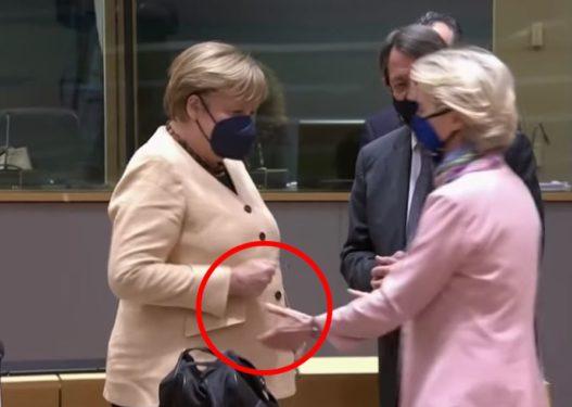 Frika nga Covid?! Angela Merkel refuzon një shtrëngim duarsh me Ursula von der Leyen