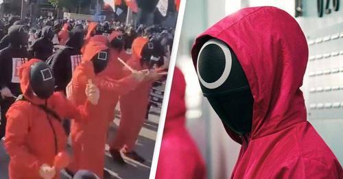 """Protesta masive për kushtet e punës, koreanët vishen me kostume si në """"Squid Game"""""""